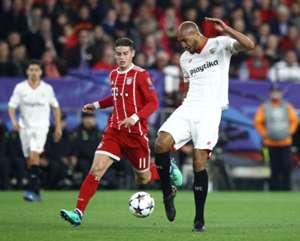 James Rodríguez Bayern Munich vs Sevilla Champions League