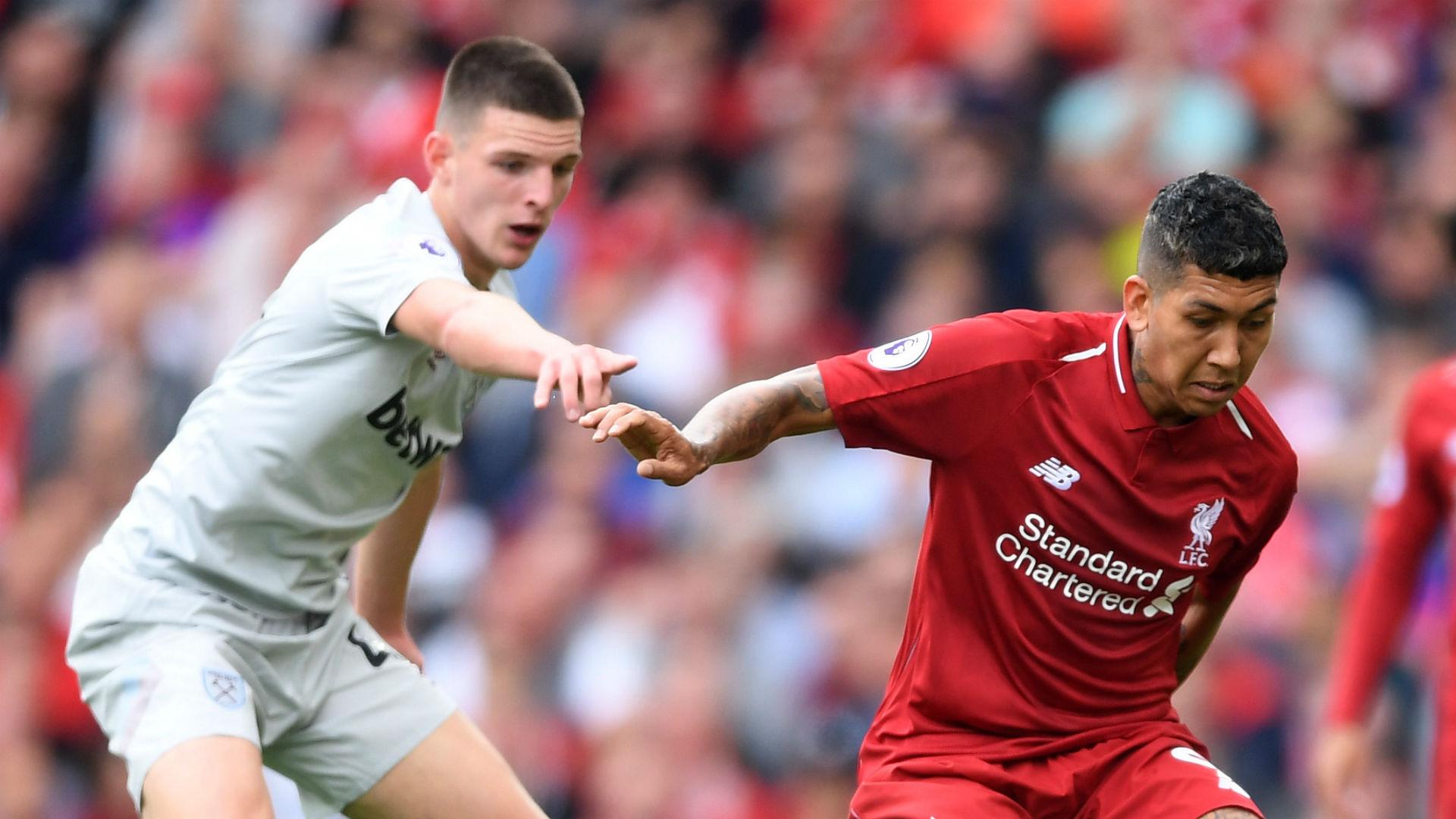 Declan Rice West Ham Roberto Firmino Liverpool