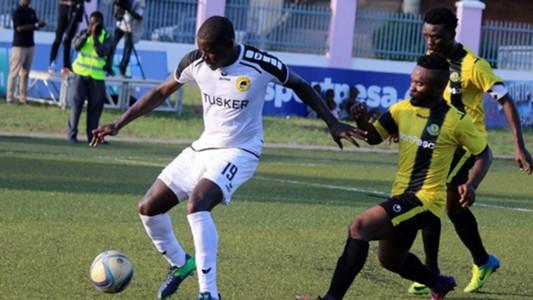 Tusker striker Michael Khamati v Yanga.