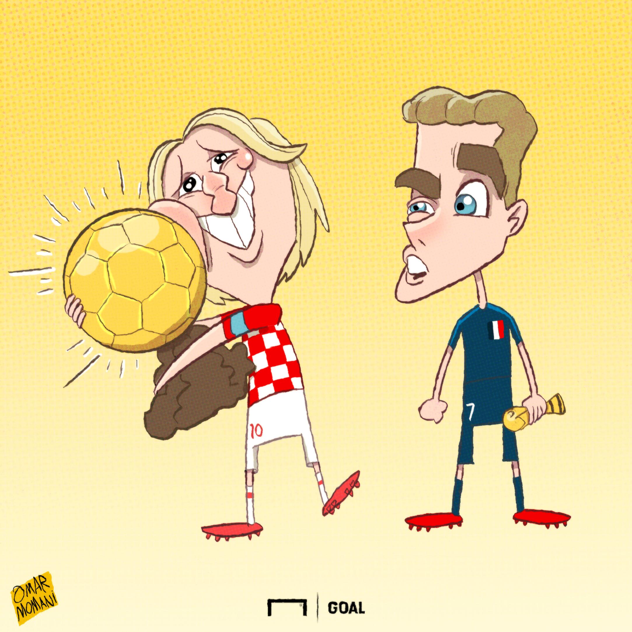 Antoine Griezmann Luka Modric Cartoon