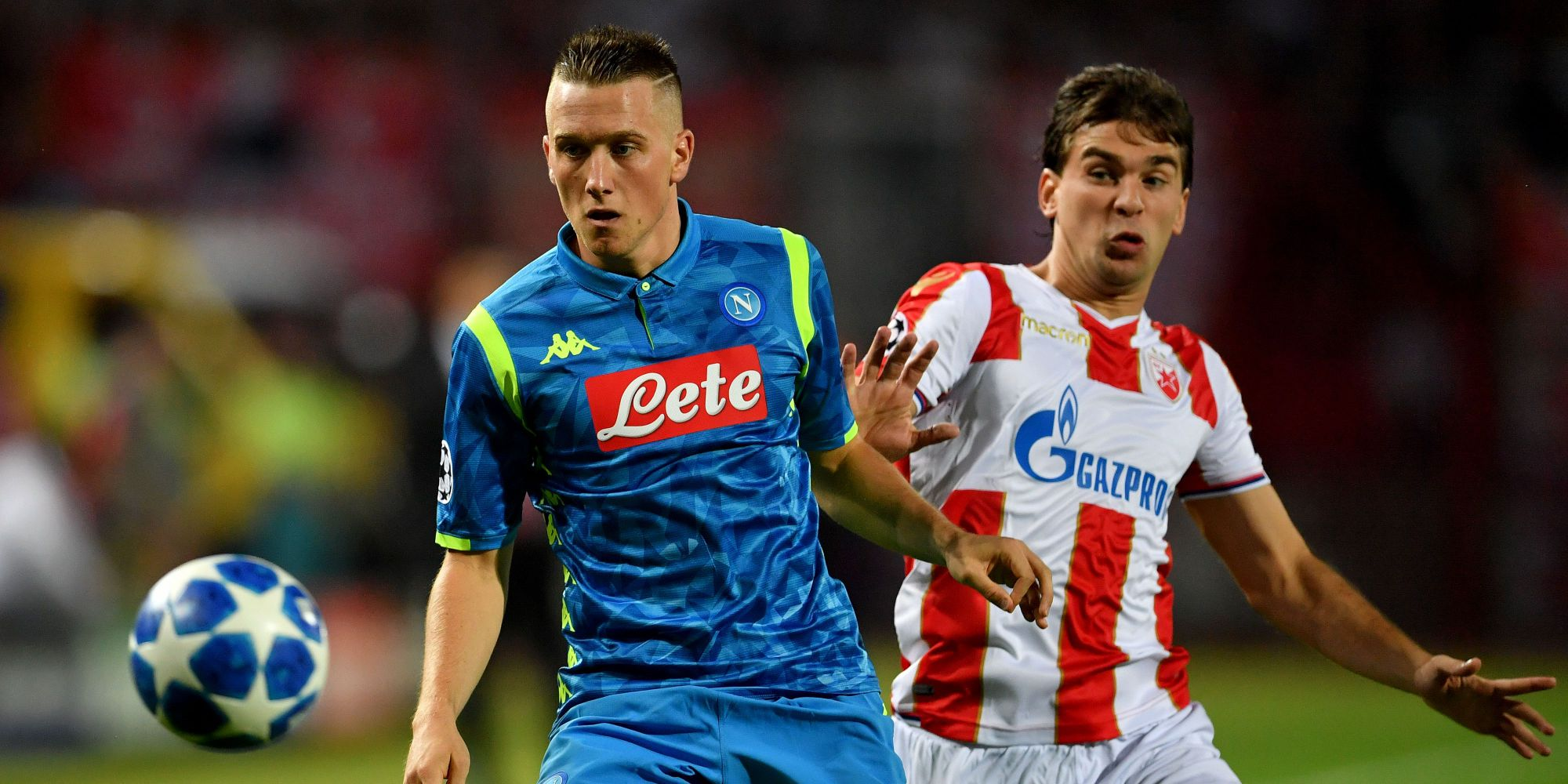 Piotr Zielinski Filip Stojkovic Crvena Zvezda Napoli Champions League