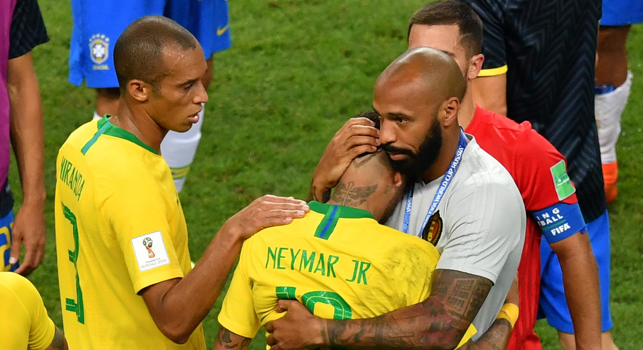Neymar Thierry Henry Brazil Belgium