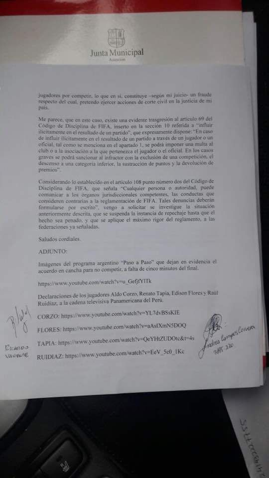 Documento pacto de lima