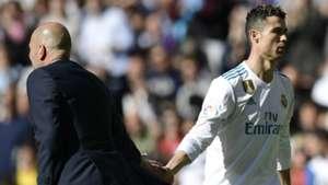 Zidane Cristiano Ronaldo Real Madrid Atletico LaLiga