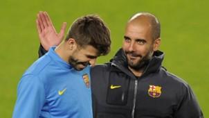 Pique Guardiola Barca 04122011