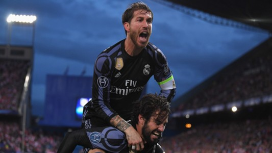 Sergio Ramos Isco Alarcon Atletico Real Madrid UCL 10052017