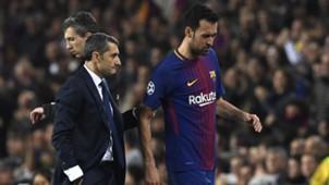 Sergio Busquets Ernesto Valverde Barcelona 14032018