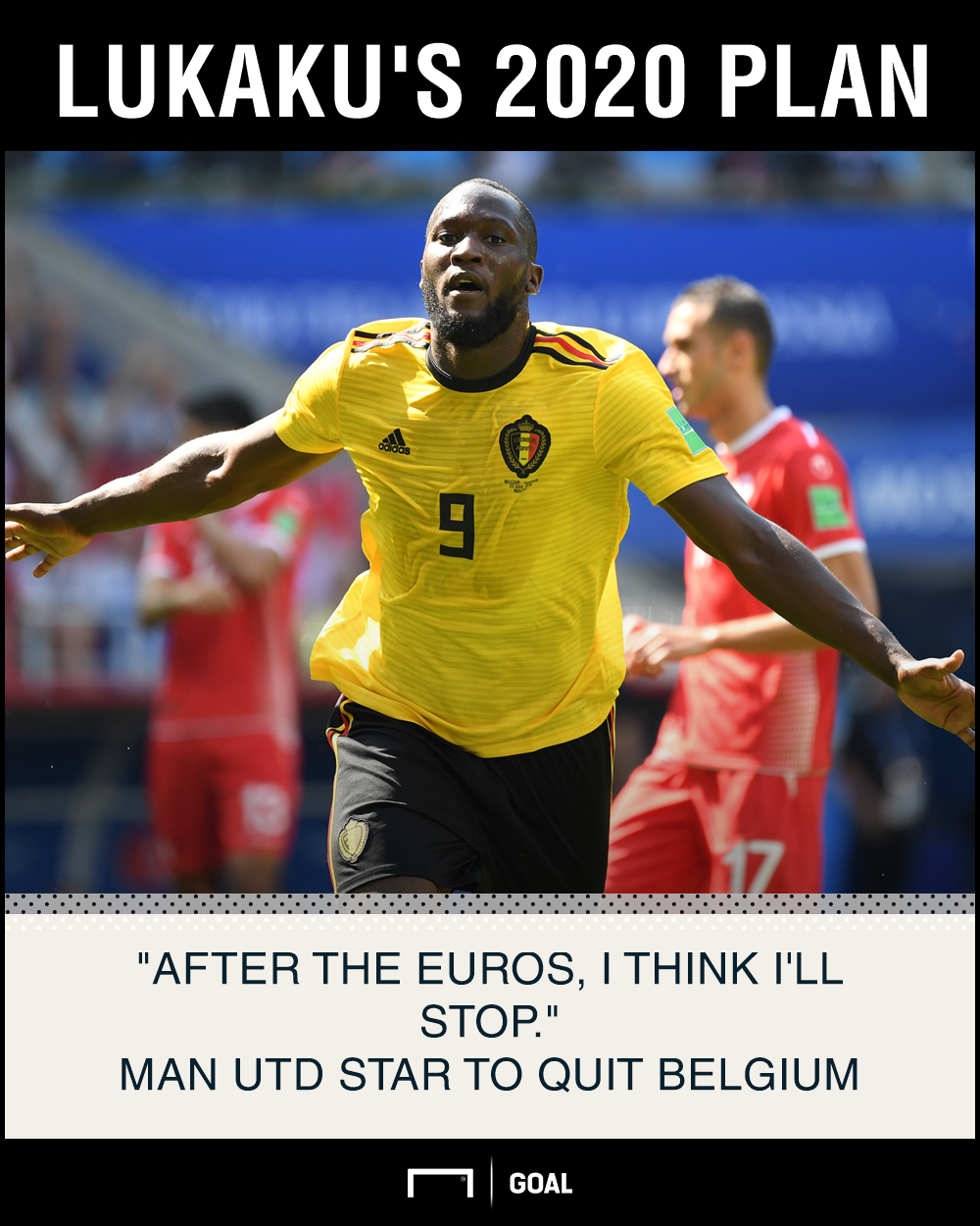 Romelu Lukaku Belgium quit 2020