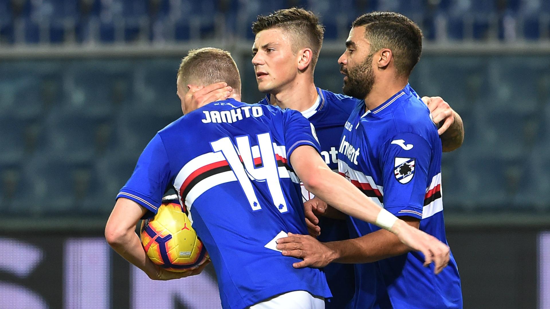 Sampdoria celebrating Sampdoria SPAL Coppa Italia