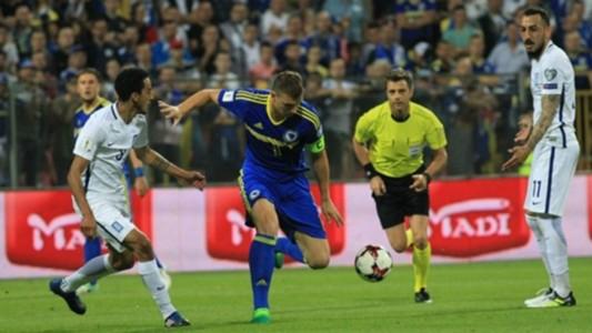 Bosnia Greece World Cup Qualification 09062017 Dzeko
