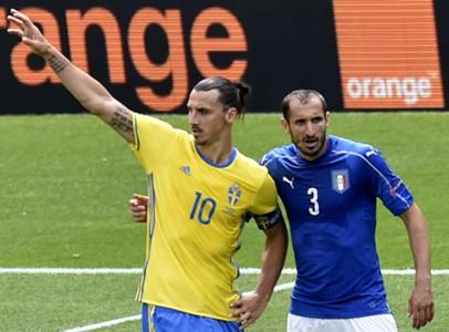 Zlatan Ibrahimovic Giorgio Chiellini