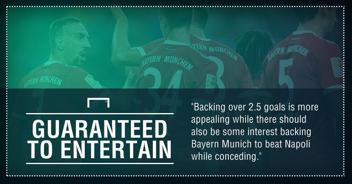 GFX Napoli Bayern Munich betting