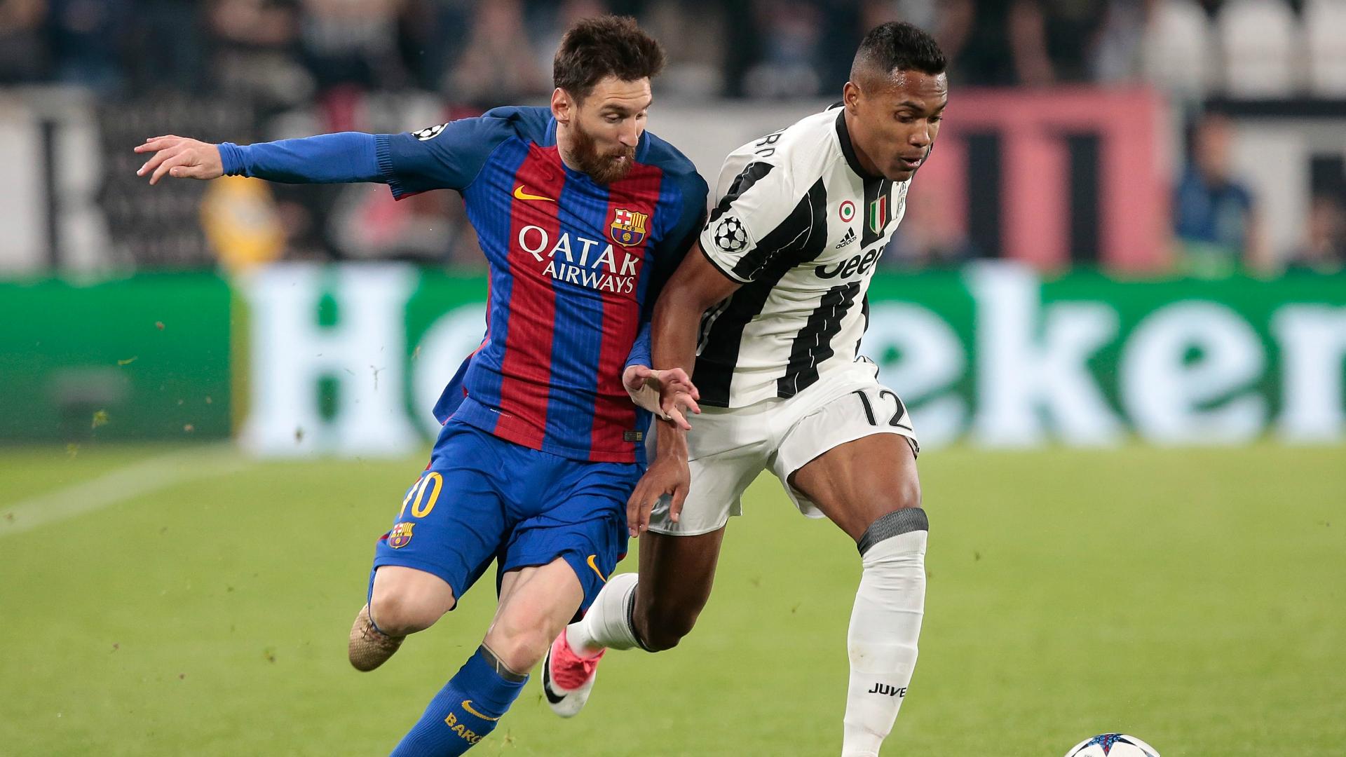 Lionel Messi Alex Sandro Juventus Barcelona