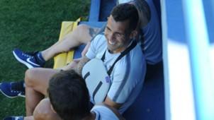 Carlos Tevez Hombro Boca Juniors Entrenamiento 26022018