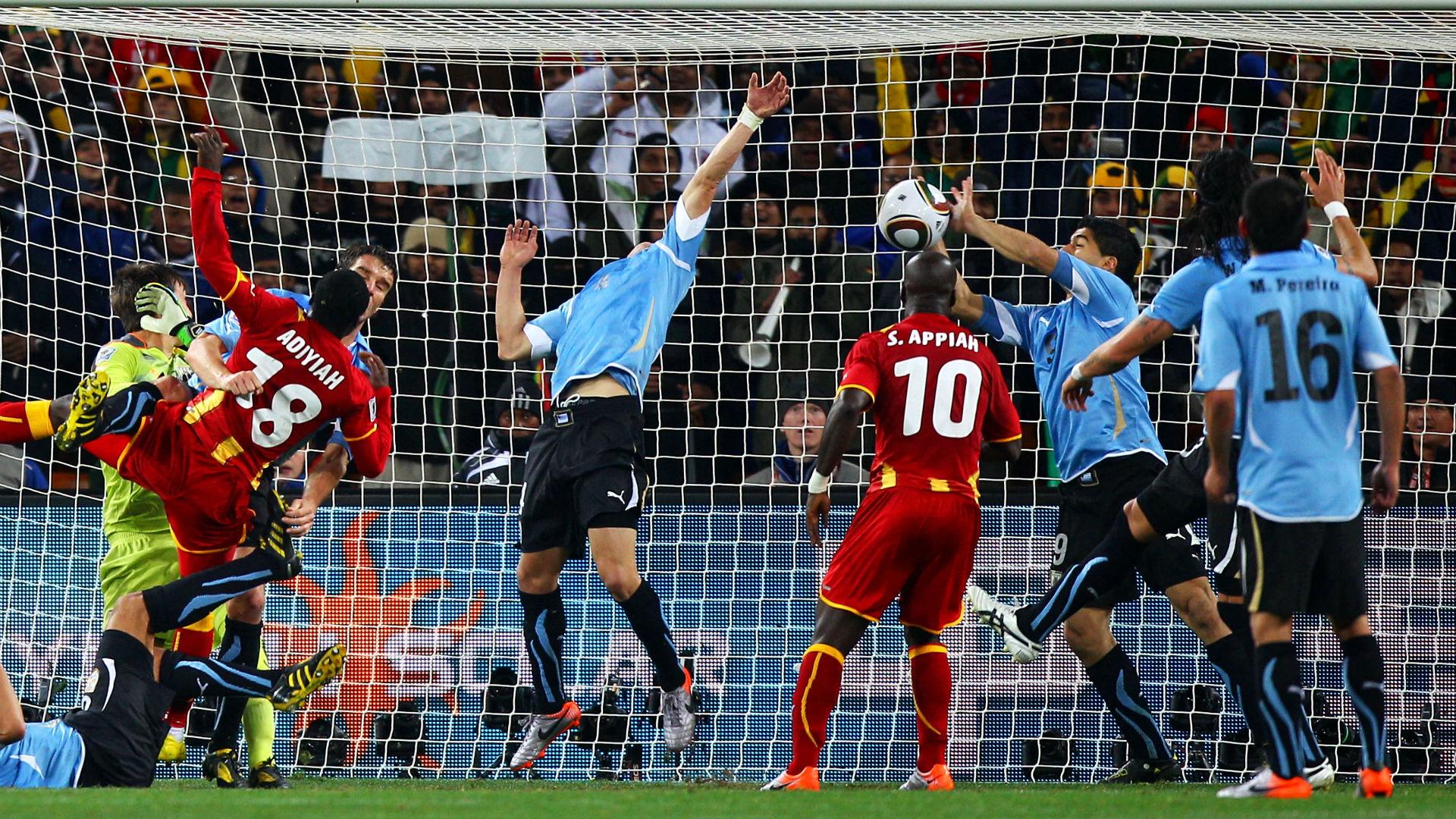 Luis Suarez Uruguay Ghana 2010
