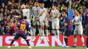 Lionel Messi Joe Gomez Barcelona - Liverpool 05012019