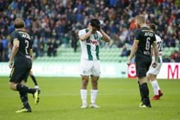 Doan missed penalty FC Groningen vs AZ