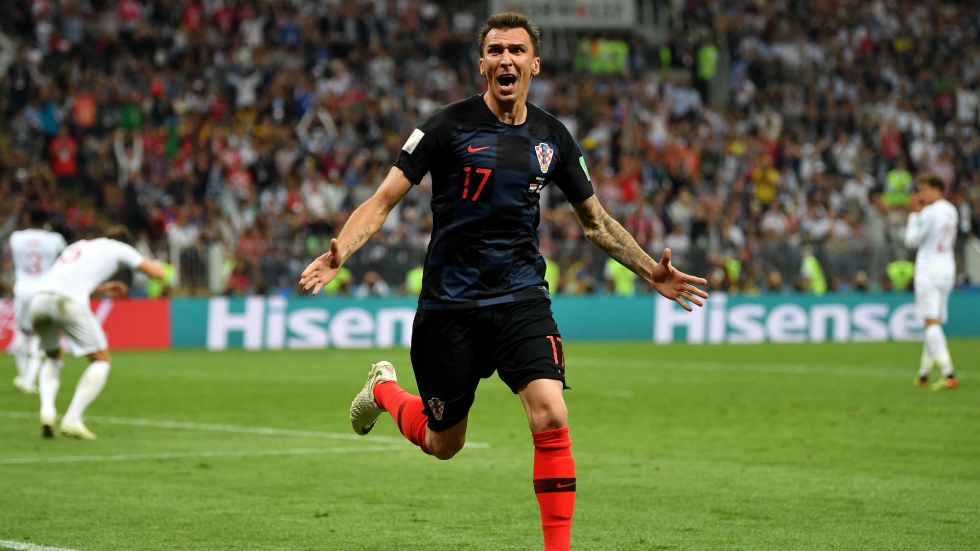 croatia england - mario mandzukic goal - world cup - 11072018
