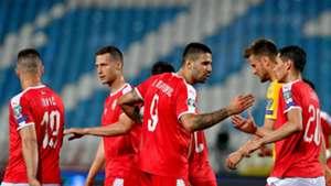 Serbia Lithuania Goal Celebration EURO2020 Quali 06102019