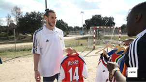 Gareth Bale camisa Thierry Henry Arsenal 22032019