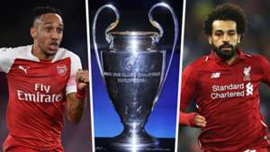 Pierre Emerick Aubameyang Champions League trophy Mohamed Salah