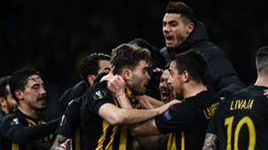 AEK Athens celebrating