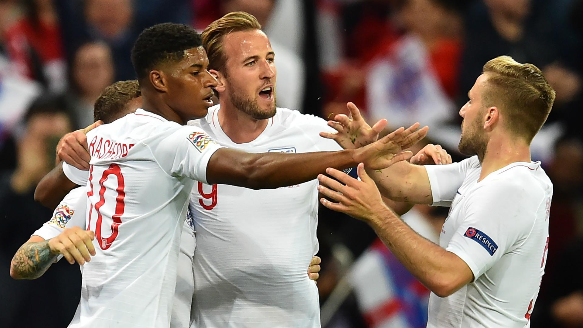 Marcus Rashford Harry Kane Luke Shaw England 2018-19