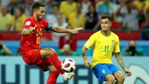 Eden Hazard Belgium Philippe Coutinho Brazil 2018