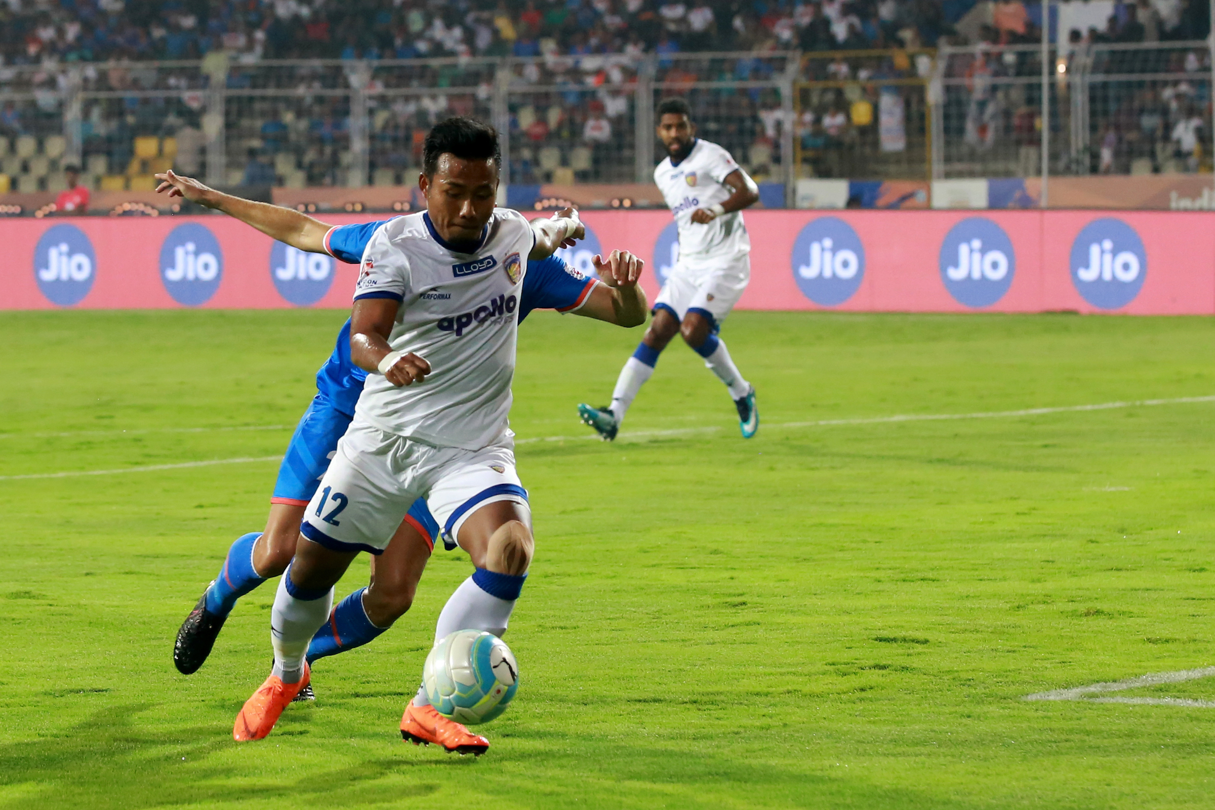 Chennaiyin chill FC Goa in twenty minutes