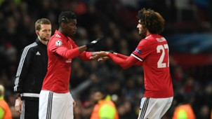 Paul Pogba Marouane Fellaini Manchester United Champions League