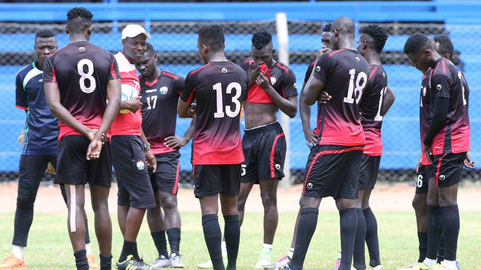 Stanley Okumbi with the squad at Machakos Stadium