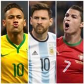 Neymar, Messi e CR7