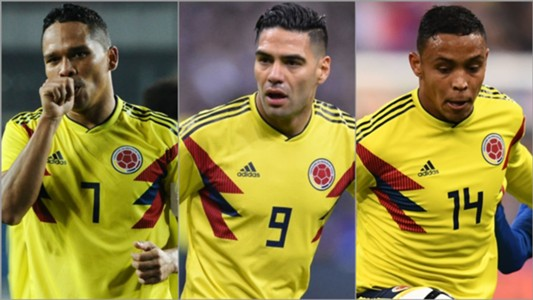 Bacca, Falcao y Muriel Colombia collage