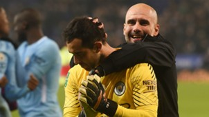 Pep Guardiola Claudio Bravo Manchester City EMBED