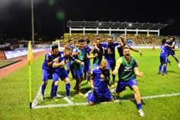 Negeri Sembilan players celebrate their win over Selangor 14/2/2017