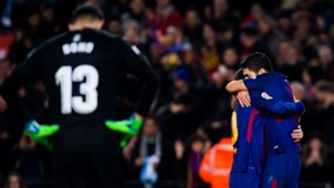 FC Barcelona FC Girona Lionel Messi Luis Suarez 24022018