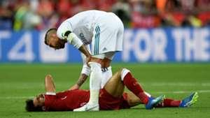 Sergio Ramos Mohamed Salah Real Madrid Liverpool UCL