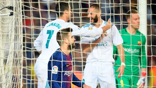 Cristiano Ronaldo Karim Benzema Gerard Pique Barcelona Real Madrid El Clasico LaLiga 06052018