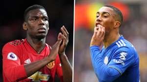 Paul Pogba Youri Tielemans Man Utd Leicester City