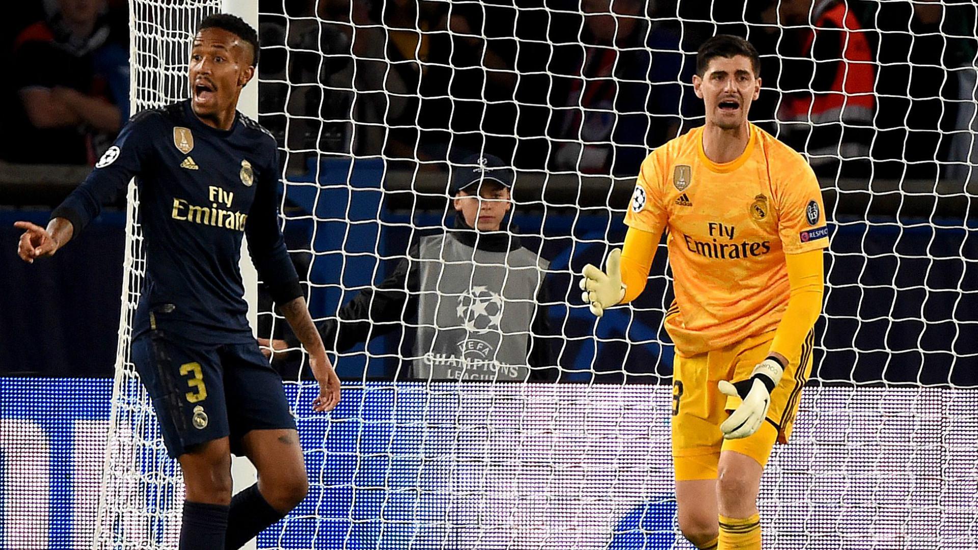 Eder Militao Thibaut Courtois Real Madrid 2019-20