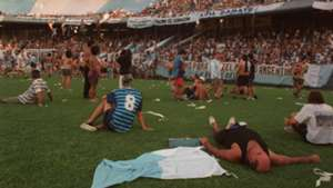 Racing Club hinchas Cilindro 1999