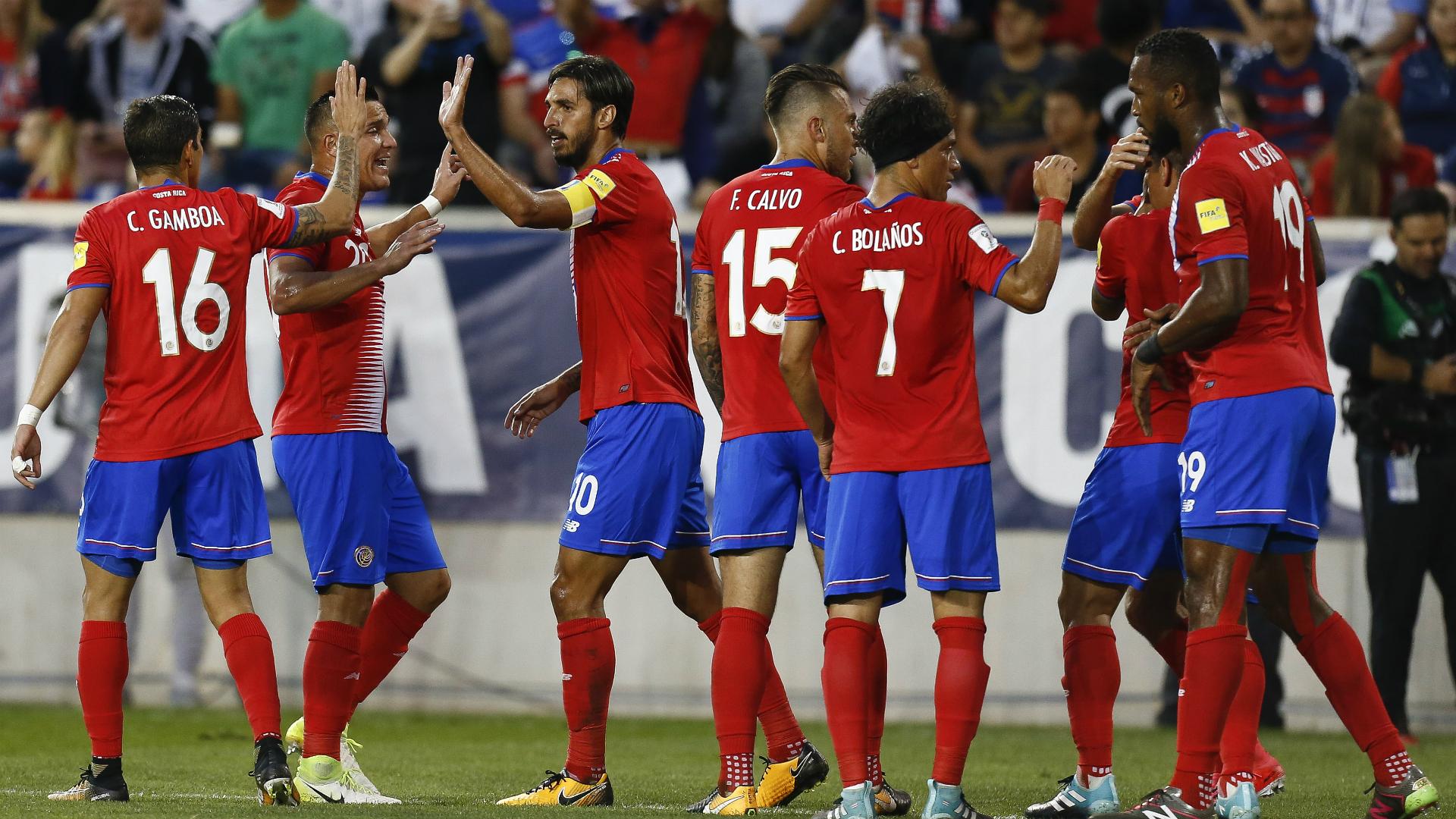 Costa Rica celebrating USA