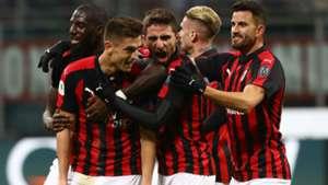 Piatek Milan Napoli Coppa Italia