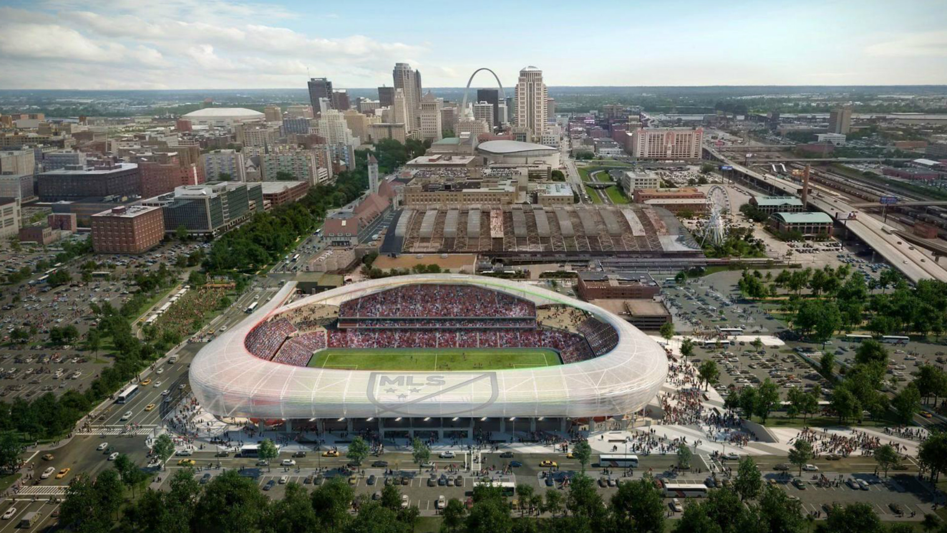 St Louis MLS stadium rendering
