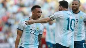Lautaro Martínez Lionel Messi Argentina Venezuela Copa America 28062019