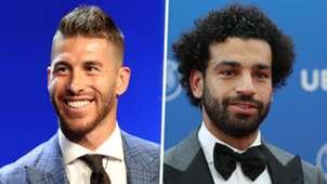 Sergio Ramos Mohamed Salah split