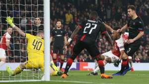 Tomas Koubek Pierre-Emerick Aubameyang Arsenal Rennes UEFA Europa League 14032019