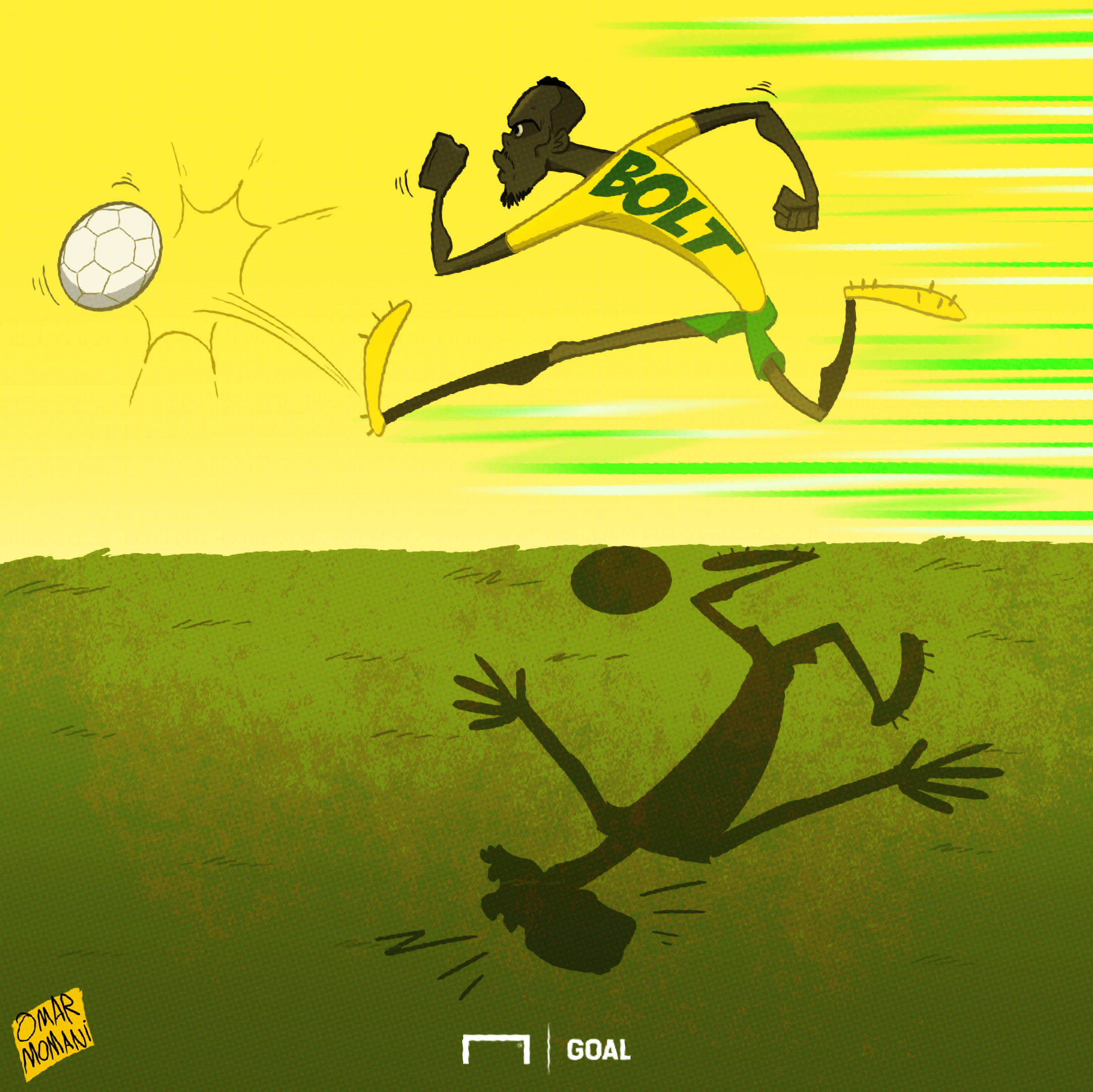 Cartoon: Usain Bolt's goal