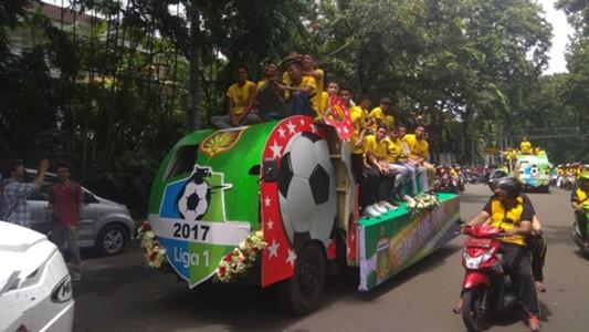 Pawai Juara Liga 1 Bhayangkara FC