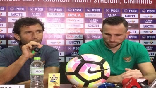 Luis Milla - Ilija Spasojevic - timnas Indonesia